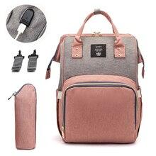 Moda mumya analık bez torba USB marka büyük kapasiteli bebek çantası seyahat sırt çantası tasarımcı hemşirelik çantası bebek bakımı için mumya çanta
