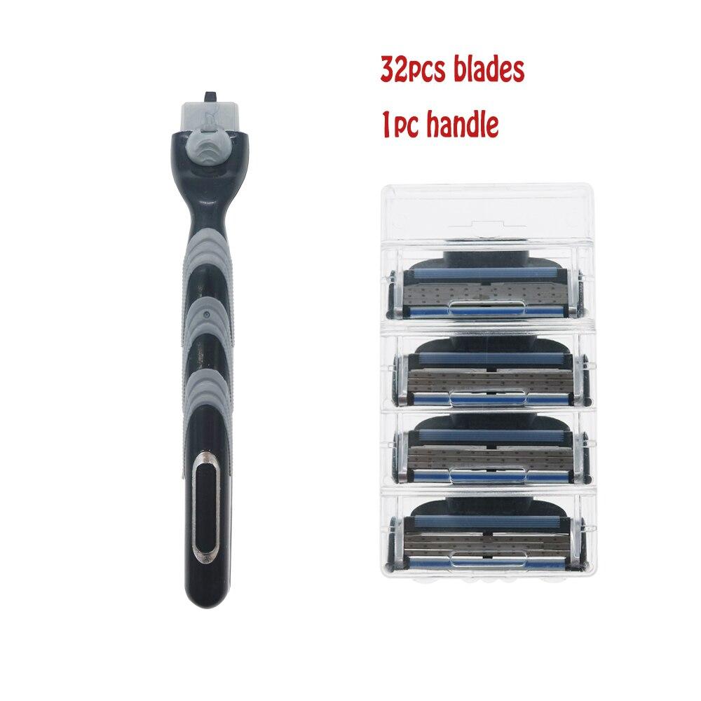 Sistema de Lâmina de Barbear Padrão para ru Lâmina de Barbear para Barbear Homem Rosto Eua para Barbear Punho 32 Pçs &