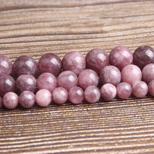 LanLi fashion natural Jewelry Ziyun mother stone Loose beads 6/8/10mm DIY woman bracelet necklace ear stud accessories(China)