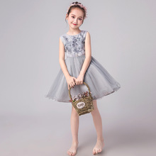 High quality Flower Girl Performing Princess Garment Childrens elegant sweet party Dresses evening dress