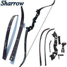 Sanlida 35-45lbs Hunting Recurve Bow 60inch with Bow Sight,Stabilizer and Arrow Rest Shooting Training Takedown Bow Slingshot все цены