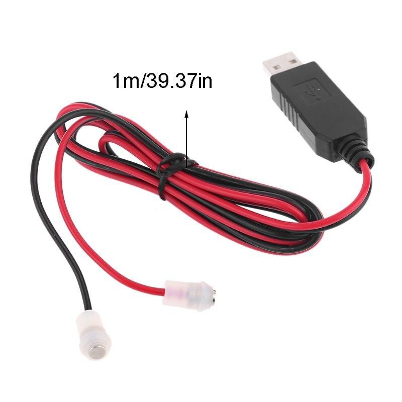 3.7V 18650 26650 Battery Eliminator DC 5V USB to 4.2V Magnetic Power Supply Adapter Cable