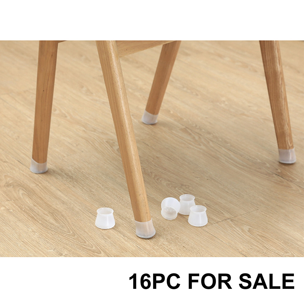 16PC Table Chair Leg Silicone Cap Pad Furniture Table Feet Cover Floor Protector