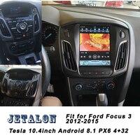 10.4 Tesla Screen Navigation For Ford Focus 3 Android 8.1 Car radio GPS bluetooth Multimedia carplay 2K Video Head Unit 2012+