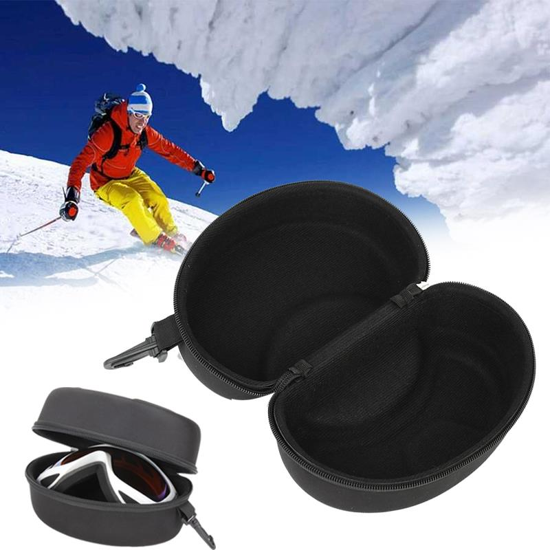 Durable EVA Dustproof Travel Outdoor Skiing Glasses Glasses Case Snowboard Zippers Ski Glasses Holder Box Goggles Carry