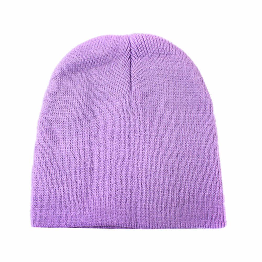 6 สีเด็กหมวกฤดูใบไม้ผลิฤดูใบไม้ร่วงฝ้ายเด็กผ้าพันคอหมวกผ้าพันคอสำหรับชายหญิงถักหมวกฤดูหนาว Warm สี Unisex เด็กหมวก