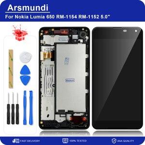 "Image 1 - สำหรับ Nokia Lumia 650 RM 1154 RM 1152 5.0 ""จอแสดงผล LCD Touch Screen Digitizer ASSEMBLY พร้อมกรอบสำหรับ Microsoft 650 LCD + ของขวัญ"