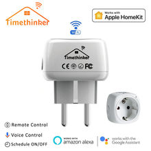 Timethinker 2 Pcs Smart WiFi Socket for Apple Homekit US EU Plug Alexa Google Home Siri Voice Remote Control Timer Module