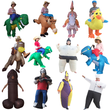 Inflatable Halloween Costume For Adult Kids Fan T-rex Gorilla Sumo Cow Horse Cowboy Unicorn Dinosaur