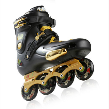 Golden Adult Skate Male and Female Roller Skates Single-Row Adjustable Size Sneakers Boots 4 Wheels pattini con rotelle цена 2017