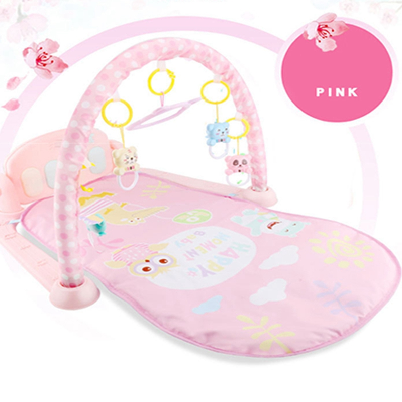 Baby Play Mat Baby Activity Gym Children's Play Mat 0-12 Months Developing Carpet Soft Rattles Musical Toys Activity Rug | Happy Baby Mama