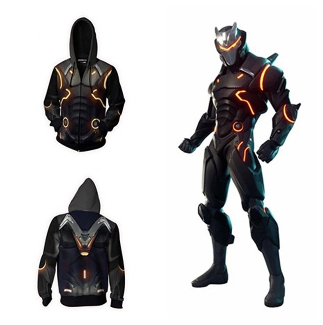 Battle Game Omega Oblivion Link Cosplay Costume Hoodie Halloween Costume Zipper Hoodies Sweatshirts Tops For Men Women