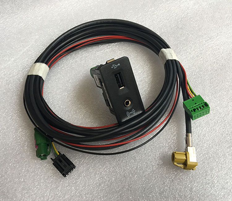 Mib2 carplay usb aux interruptor carplay mdi usb ami adaptador tomada chicote de fios cabo para v.w golf 7 mk7 5g0 035 222 e 5q0035726e