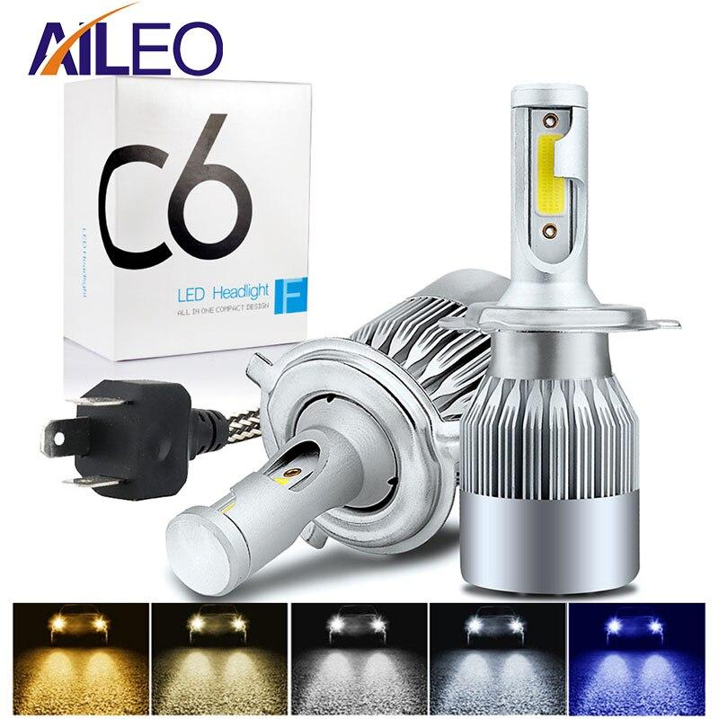 2PC H7//H11 LED Car Headlight Halogen Cool White Lamp 35W 12V Bulbs Light 4000LM