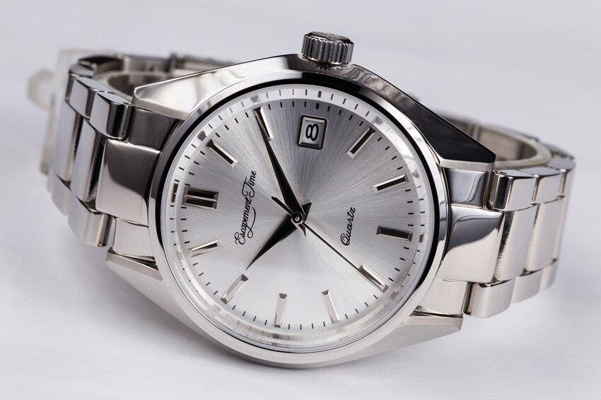 【Escapement time】Quartz Watch 38mm Case steel watchband or Leather strap