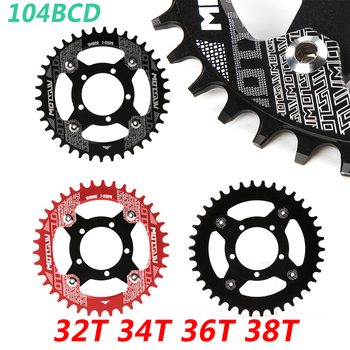 Bicycle Crank 104BCD Bicycle Chainring + Adapter For Bafang Motor Bike Chainwheel 32T/34T/36T/38T MTB Bike Circle Crankset Plate carbon steel 48t bike crankset 104bcd chainring bike crank chain ring mtb road bike chainwheel for shimano slx xt 7 8 9 speed