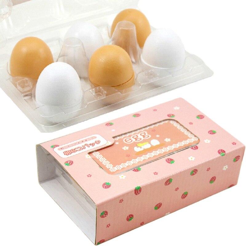 6PCS simulação ovo fontes do jardim de infância de Madeira Ovo Modelo Ovo de Cozinha conjunto de brinquedos de Madeira crianças brinquedo de madeira Brinquedos de Desenho alimentos acessórios