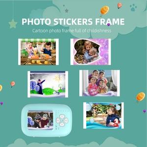 Image 5 - 1080P Instant Snap Print Kids Mini Camera Video Vlog Digital Camcorder 2.0 Inch HD Screen Photography Videocamera Children Gift