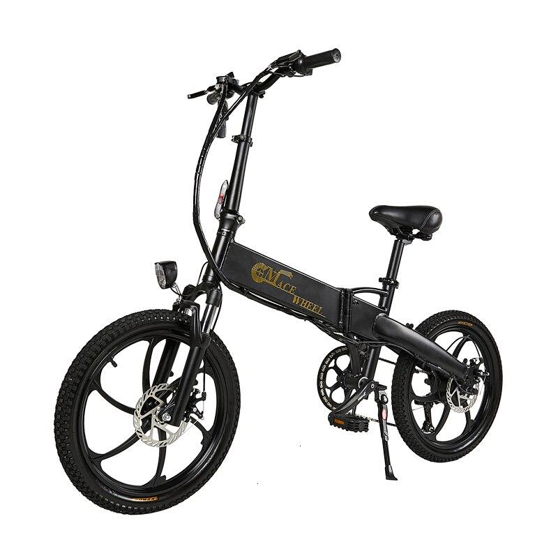 В европейском и американском стиле России 20 ''Электрический складной велосипед 48V двигатель 7 Скорость шестерни для е-байка передние и задние дисковые тормоза магниевого сплава колеса - Цвет: black golthe logo