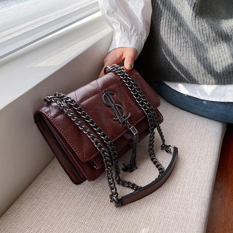 Luxury Handbags Famous Brand Women Bags Designer Lady Classic Plaid Shoulder Crossbody Bags Leather Women Messenger Handbags