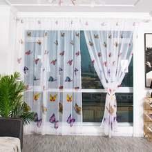 Тюлевые шторы для спальни прозрачные тюлевые занавески с принтом