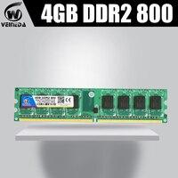 veineda 4gb 8gb 2x4gb ddr2 ram 800 667 for intel and amd mobo Desktop support memoria 8gb ram ddr2 PC2 6400