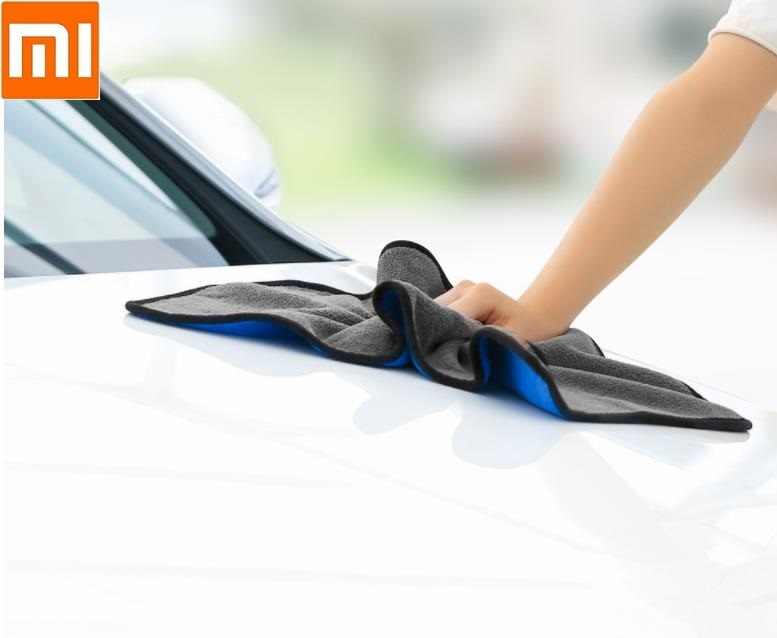 New Xiaomi Youpin Nanofiber Cleaning Towel Blue Gray Two-color Suede Thickening No Water Marks No Car Paint No Lint No Fading