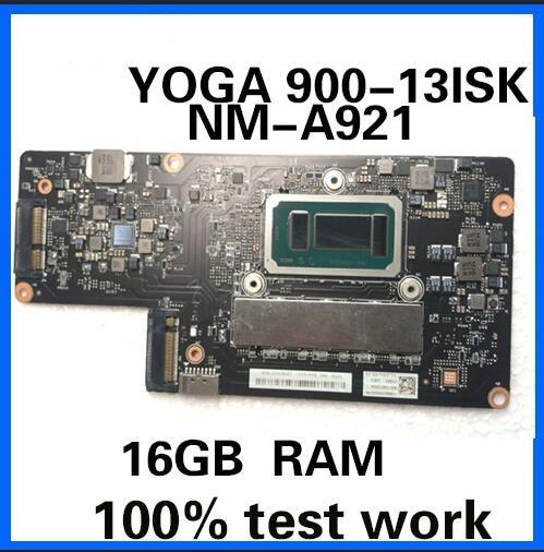 NM-A921 motherboard for Lenovo YOGA 900-13ISK YOGA900 notebook motherboard CPU i7 6560U 16G RAM 100% test work