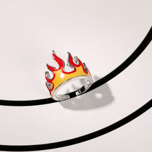 2021 Gothic Flame Open Loop Metal Charm Retro Punk Friendship Ring Jewelry Aesthetic Gift Party New Lady Jewelry Jewelry Gift