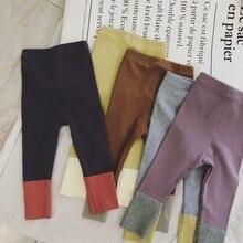От 0 до 5 лет, детские леггинсы для девочек, одежда из хлопка для детей ясельного возраста, утепленные брюки разных цветов с оборками, штаны