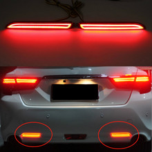 Get more info on the JURUS 2Pcs Car LED Rear Bumper Reflector Brake Lights Driving light Red Lamp For Toyota Camry Sienna Venza Reiz Innova