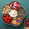 Fruit Bowl Snacks Bowl, Candy and Nut Serving Container Appetizer Tray with Lid, 6 Compartment Plastic Food Storage Organizer