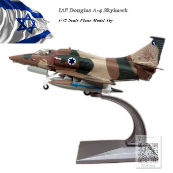 WLTK 1/72 Scale Military Model Toys IAF Douglas A-4 Skyhawk Fighter Diecast Metal Plane Model Toy For Collection,Gift,Kids wltk 1 144 scale military model toys ty 95 tu 95 bear bomber diecast metal plane model toy for collection gift kids