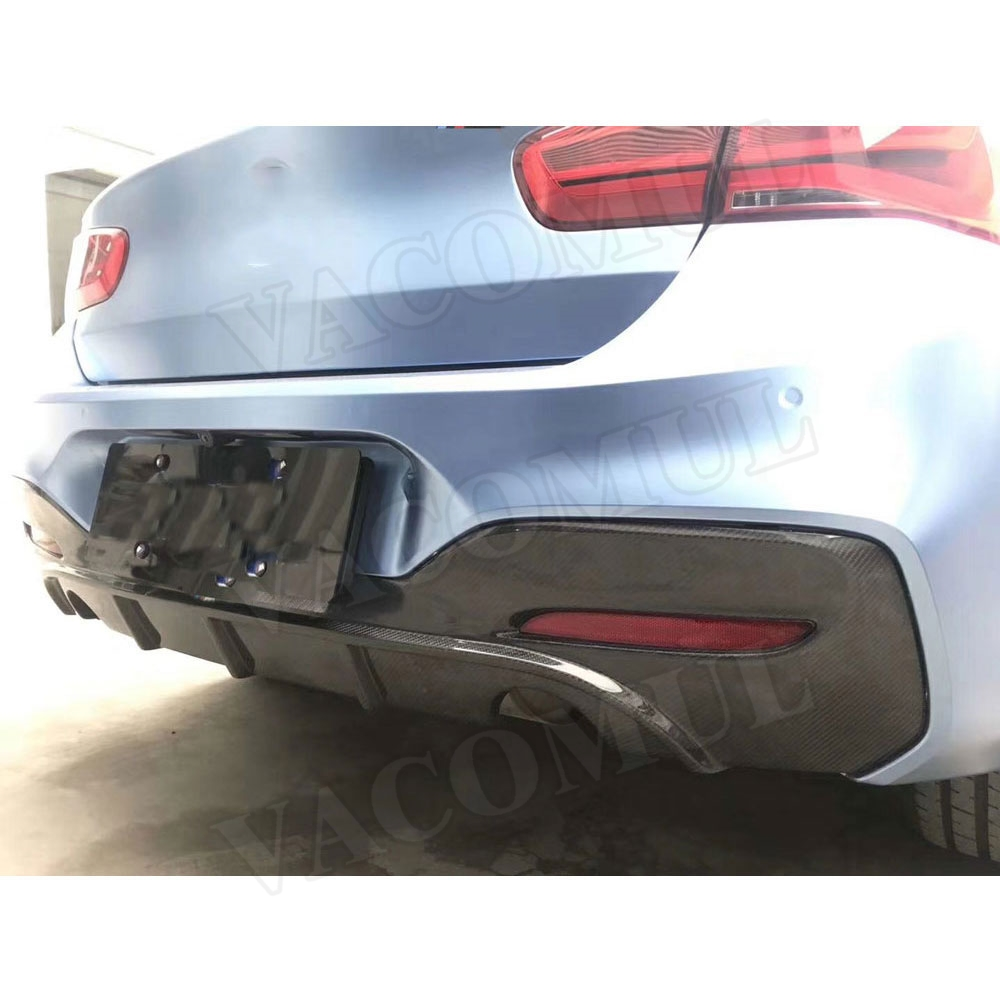 Dry Carbon Fiber Rear Bumper Lip Diffuser Spoiler for BMW 1 Series F20 M135i M140i M Sport 2016 2017 2018 Car Styling image