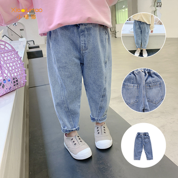 Girls Jeans for Kids spring autumn Trousers Children Jeans Kids Fashion Denim Pants Baby Boys Jean Infant Clothing XIAO LU MAO girls denim pants high quality spring kid clothing autumn girl trousers fall children jeans pants leggings heart pattern jeans