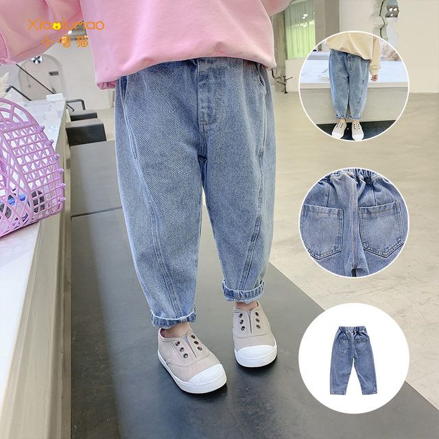 Girls Jeans for Kids spring autumn Trousers Children Jeans Kids Fashion Denim Pants Baby Boys Jean Infant Clothing XIAO LU MAO