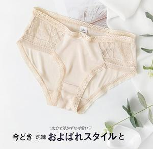 Image 2 - 3 pack Womens 100% Silk Lace Thin Sexy Panties Briefs Underwear Lingerie M L XL TG005