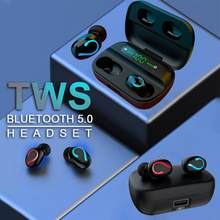 1500mah led bluetooth fones de ouvido sem fio tws controle toque esporte fone ruído cancelar fone de ouvido