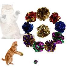 12pcs Colorful Plastic Ring Paper Cat Toy Mylar Balls Sound Paper Kitten Play Toy Balls plastic crimewave sound plastic crimewave sound no wonderland