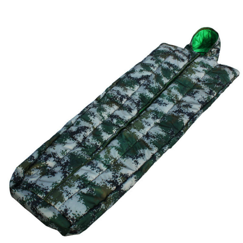 Outdoor Travel Camping Sleeping Bag Mountaineering Training Men and Women Army Thicken Warm Camouflage Sleeping Bag Lazy Bag