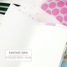 MyPretties Fantasy Grid Refill Papers A5 A6 Three Fold Filler for 6 Hole Binder Organizer Notebook