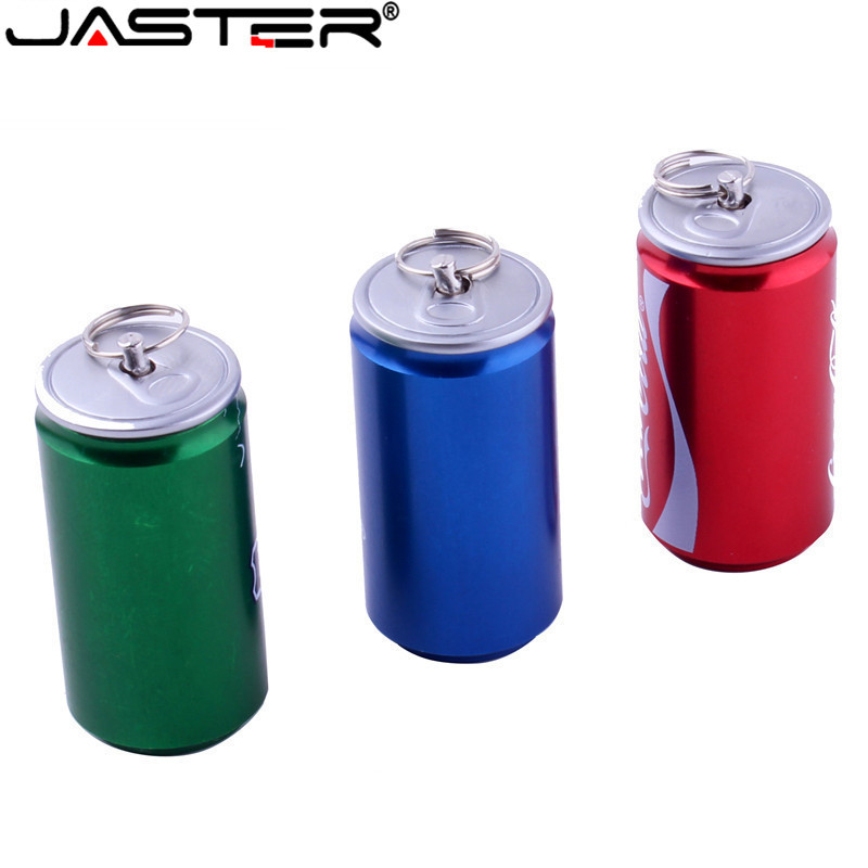 JASTER New Creative Simulation 4GB Pen Drive 2.0 Memory Flash Stick 8GB 16GB32GB 64GB Beer Can, Cola Can, Beverage Can Model USB