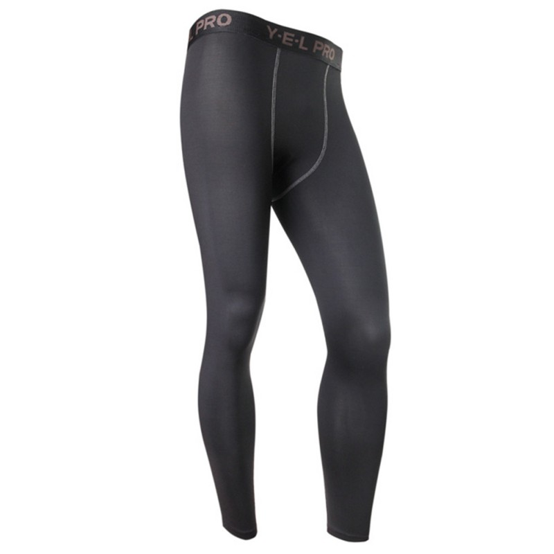 Men Boy Running Leggings Compression Base Layer Leggings Tight Long Pants Trousers