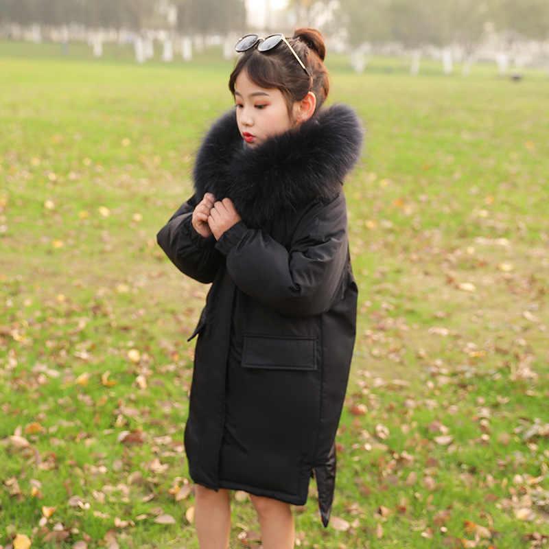 2019 ใหม่ฤดูหนาวลงเสื้อแจ็คเก็ตเด็กฤดูหนาวเด็ก Jaqueta Casaco Para As Meninas Do คู่ -สวม