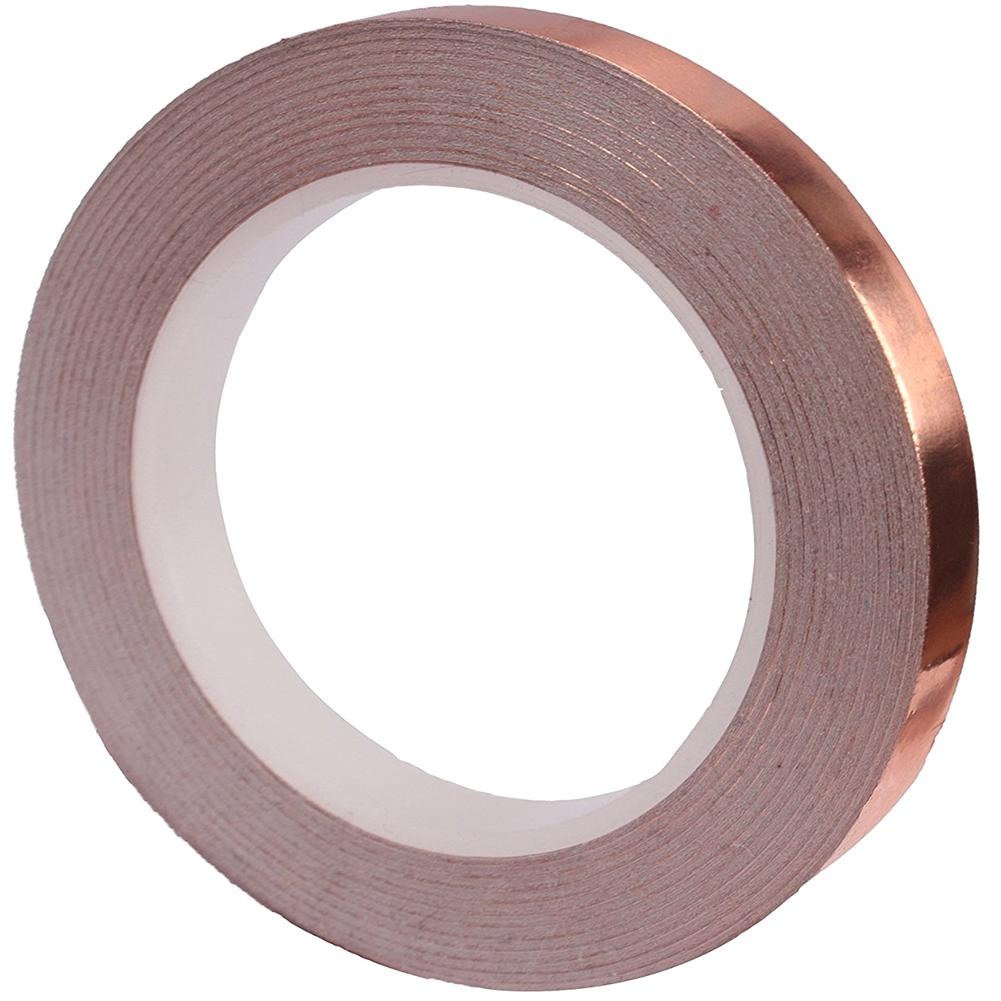 1 Roll 6MM X 20M Single Conductive Copper Foil Tape Strip Adhesive High Temperature Tape