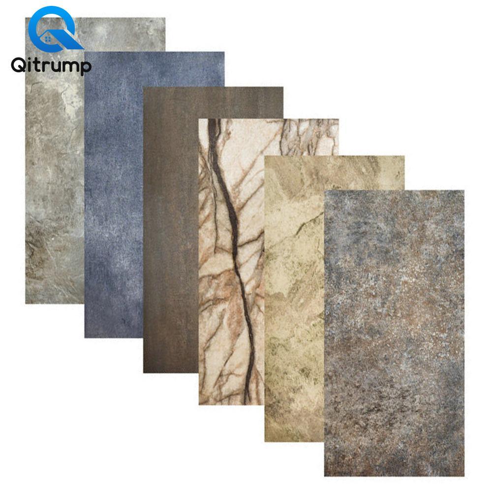 Marble Self Adhesive Bathroom Tile Stickers Waterproof Wallpaper Art Floor Sticker Kitchen Decorative Film Ground Contact Paper