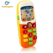 Kuulee Music Baby Phone Keypad Phone Toy Early Educational Visual Hearing Training Toy Random Color(China)
