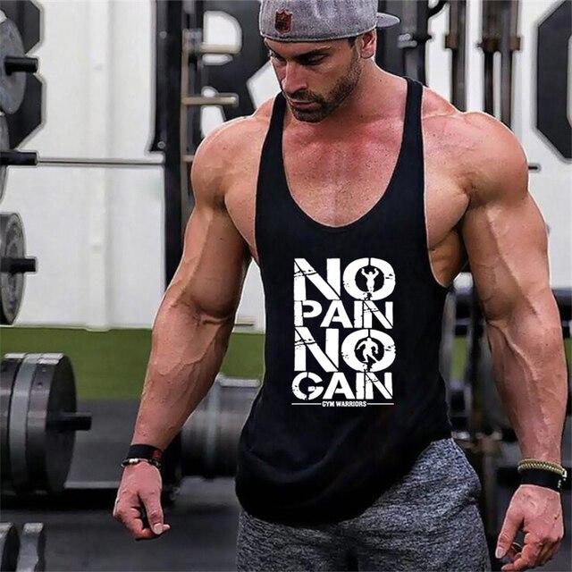 New Arrivals Bodybuilding stringer tank top man Cotton Gym sleeveless shirt men Fitness Vest Singlet sportswear workout tanktop 1
