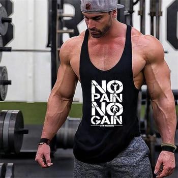 New Arrivals Bodybuilding stringer tank top man Cotton Gym sleeveless shirt men Fitness Vest Singlet sportswear workout tanktop - discount item  7% OFF Tops & Tees