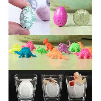 1 Pcs Novel Water Hatching Inflation Dinosaur Egg Watercolor Cracks Grow Eggs Educational Toys Interesting Party Gifts For Kids image